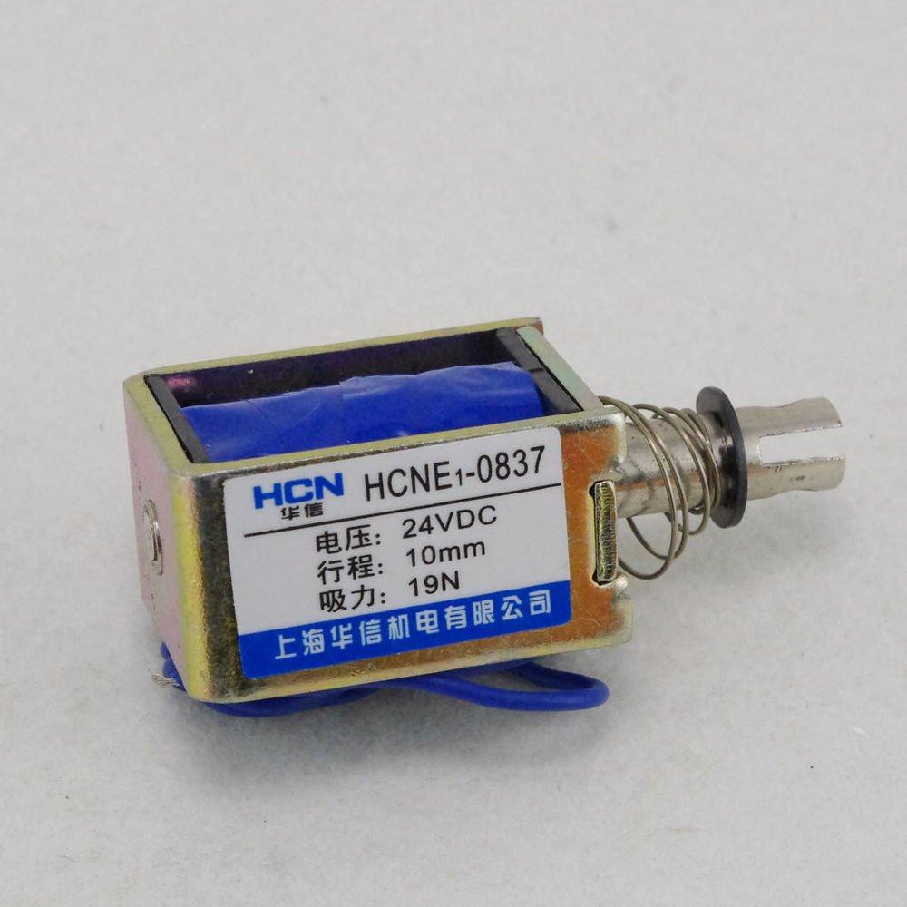 24V 1.9Kg Pull Hold/Release 10mm Stroke Force Electromagnet Solenoid Actuator