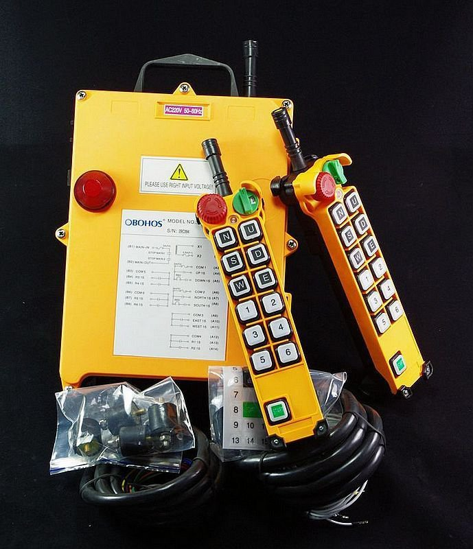 6 Motion with 1 Speed Hoist Crane Truck Remote Controller System With E-Stop