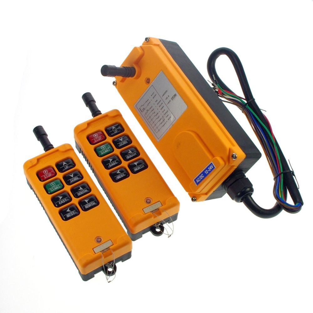 220VAC 2 Transmitters 3 Motions 1 Speed Hoist Crane Truck Remote Control System