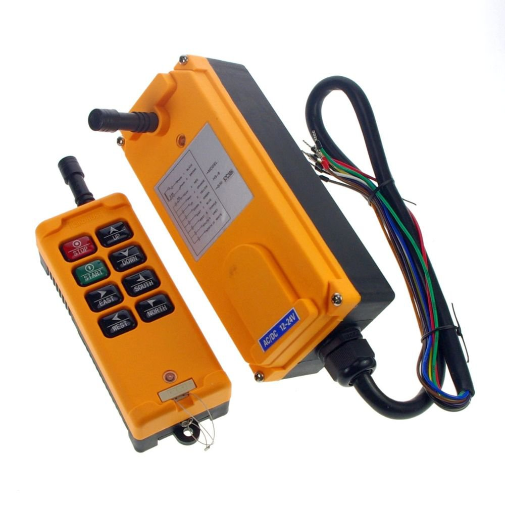 48VDC 3 Motions 1 Speed Hoist Crane Truck Radio Remote Control System Controller