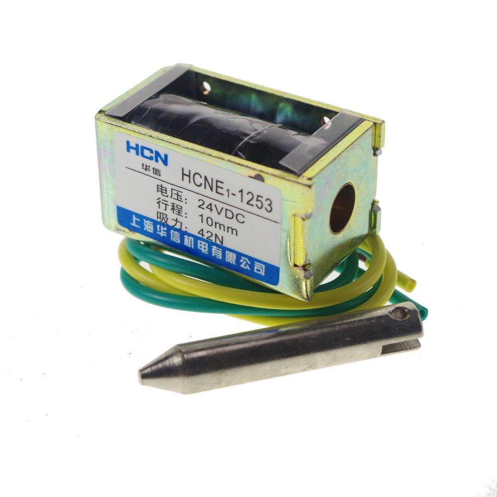24V 4.2kg 9LB 10mm  Stroke  force Electromagnet Solenoid