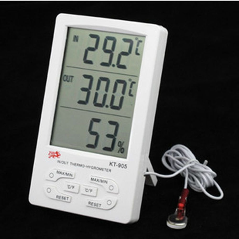 Large LCD screen Indoor and outdoor Temperature and humidity meter KT905