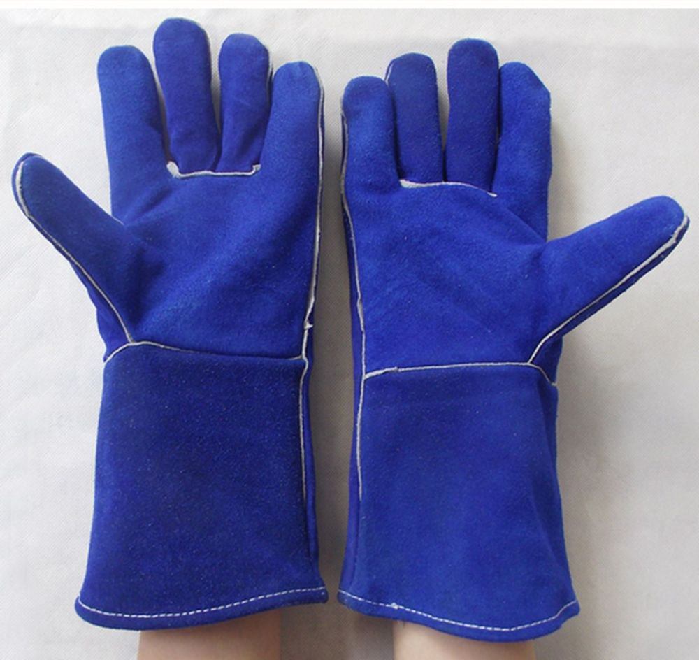 Wear-resisting thermal insulate extended Split leather welding gloves 35cm*14cm
