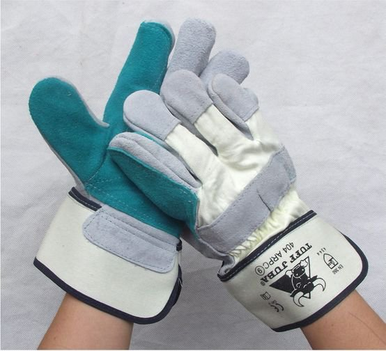 Wear-resisting  Brief paragraph leather welding gloves Strengthen