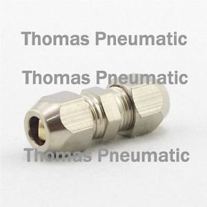 Lot5 Nickel Plated Brass Swagelok 8mm-10mm OD Pipe Straight Reducer Connector