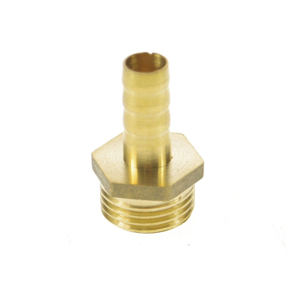 """5pcs 1/2"""" BSPP Connection Male-10mm barbed Hose Brass Adapter Coupler Connector"""