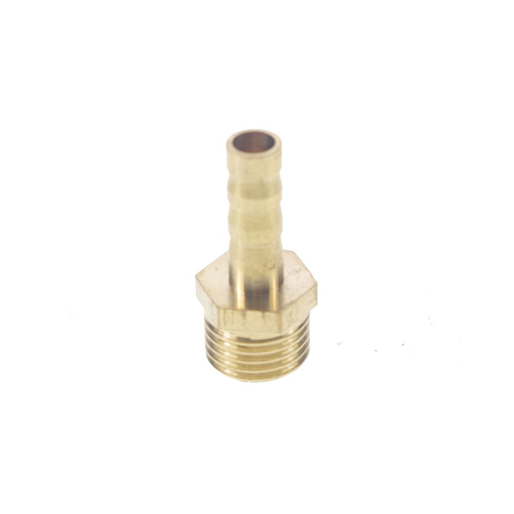 "5pcs 1/4"" BSPP Connection Male-6mm barbed Hose Brass Adapter Coupler Connector"