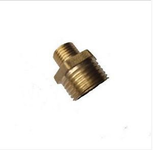 """5PCS Brass 1/8"""" Male x 1/4"""" Male BSPP Connection Hex Bushing Adapter Reducer"""