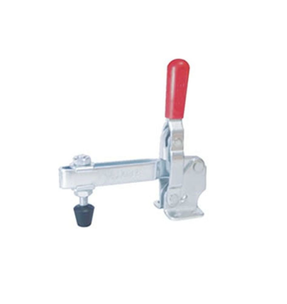 Vertical Toggle Clamp 12132 Holding Capacity 227Kg Flange Base Straight Bar