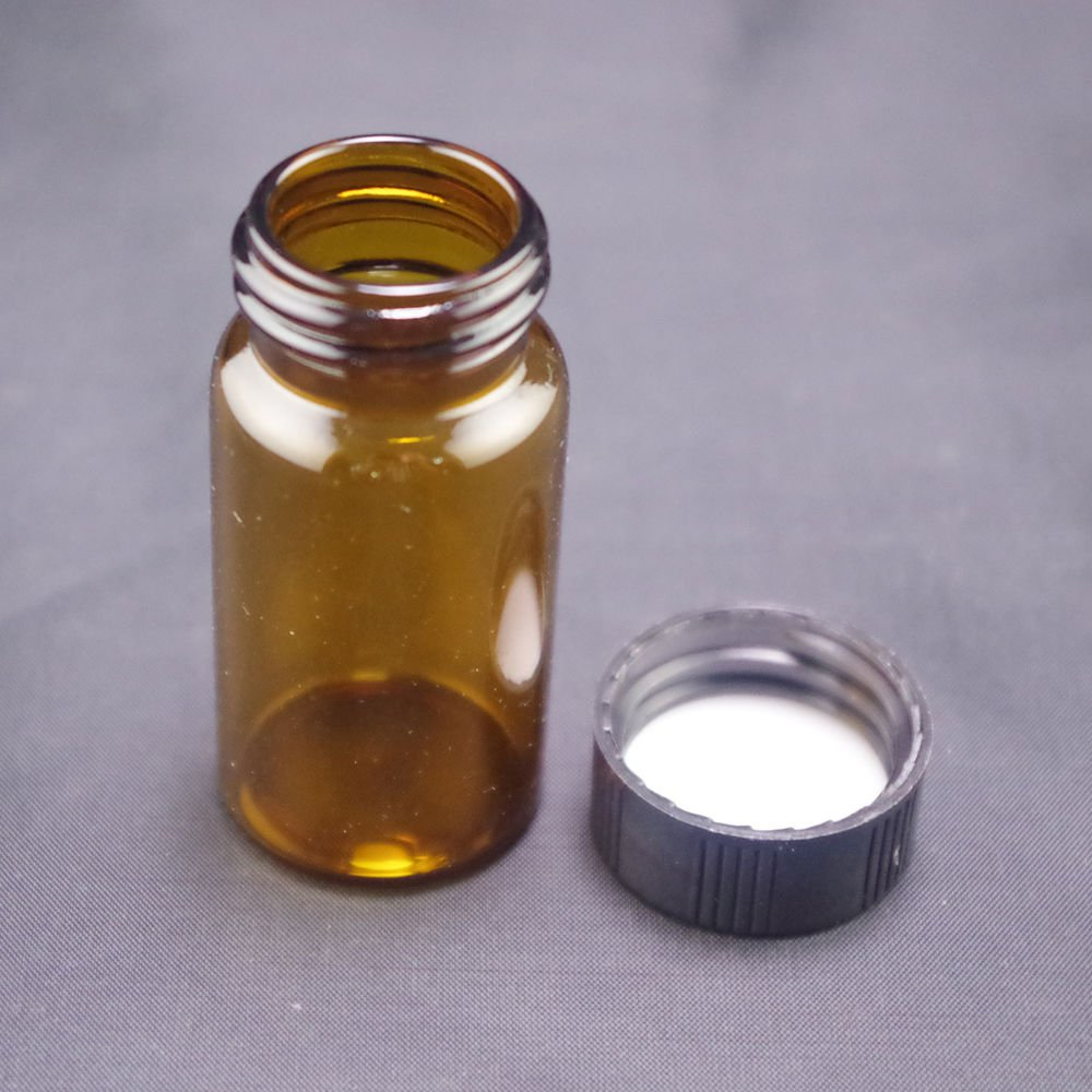 lot2 20ml Sample bottle brown glass screw top