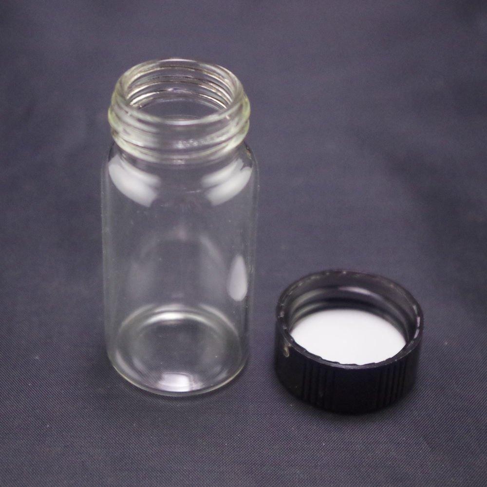 lot10 20ml Sample bottle clear glass screw top
