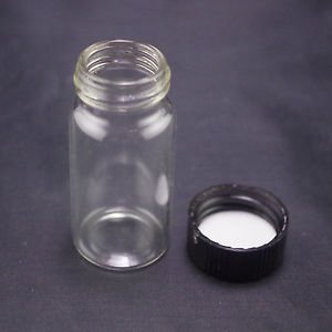 lot20 20ml Sample bottle clear glass screw top