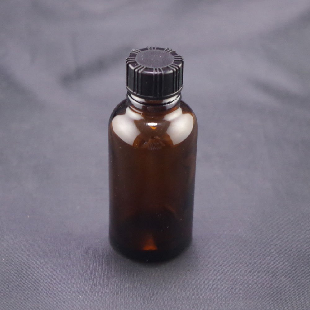 lot12 30ml Sample bottle brown glass screw top