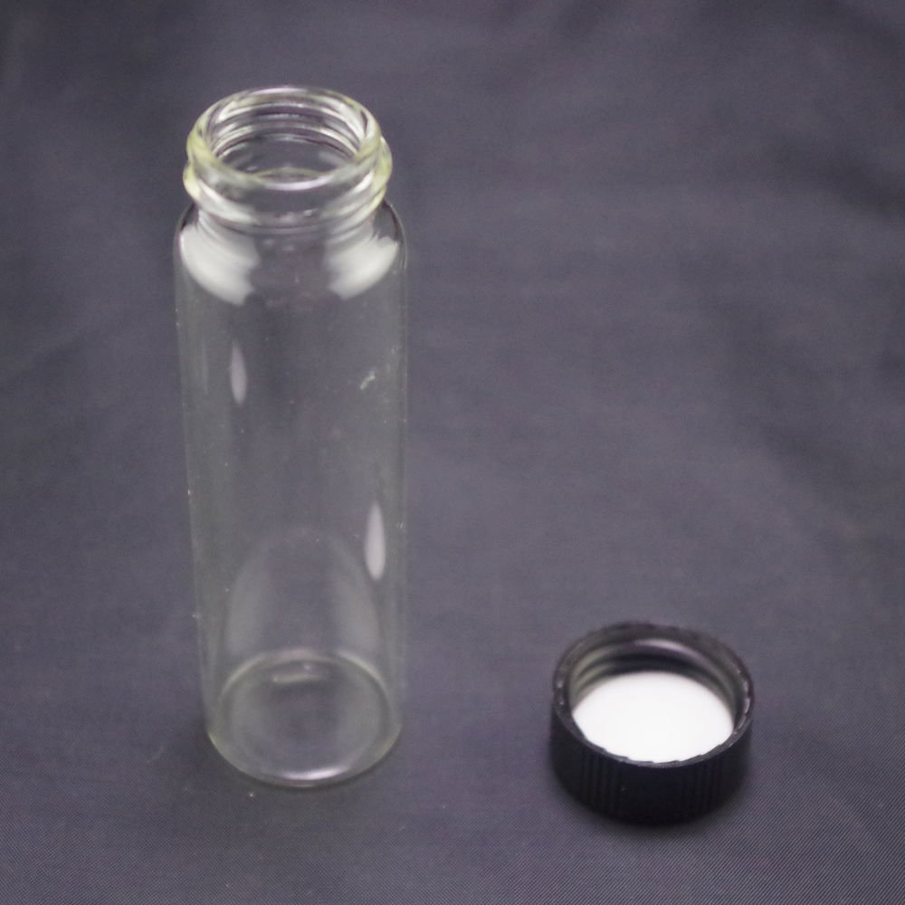 lot10 40ml Sample bottle clear glass screw top