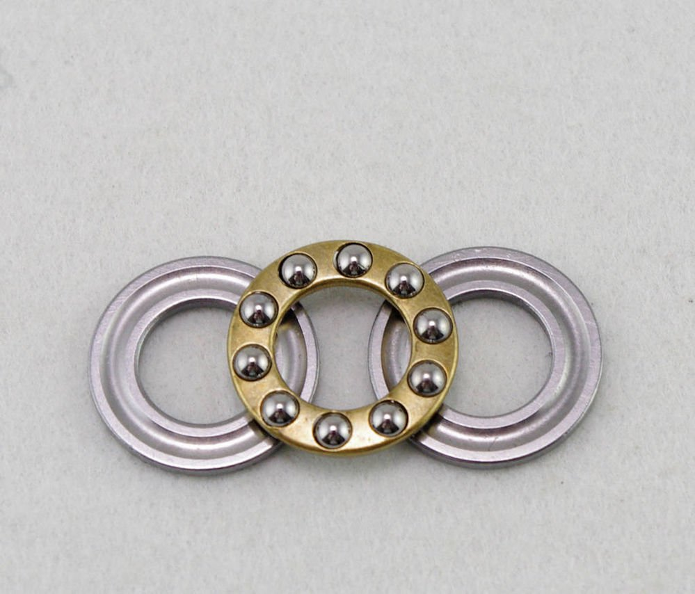 (1) 10 x 18 x 5.5mm F10-18M Axial Ball Miniature Thrust Bearing 3-Parts