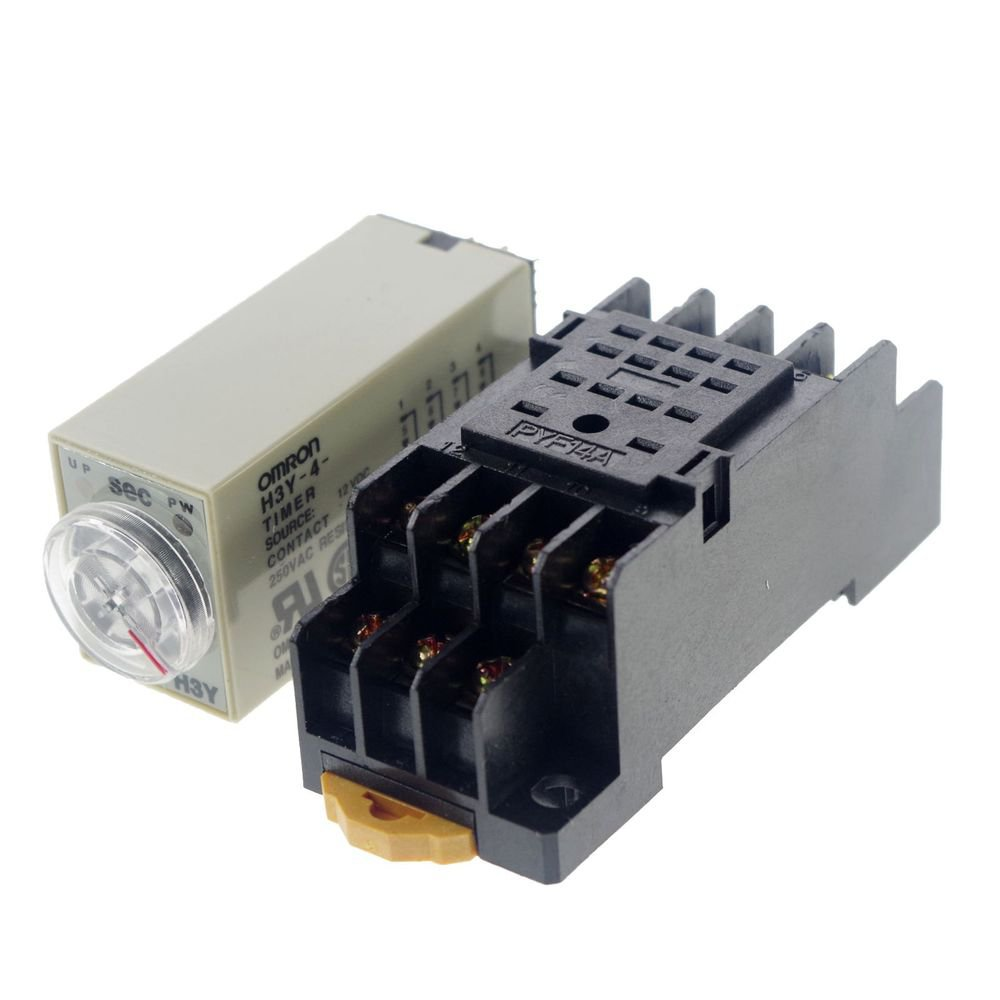 12VDC 30S H3Y-4 Power On Time Delay Relay Solid-State Timer 4PDT 14Pins Socket