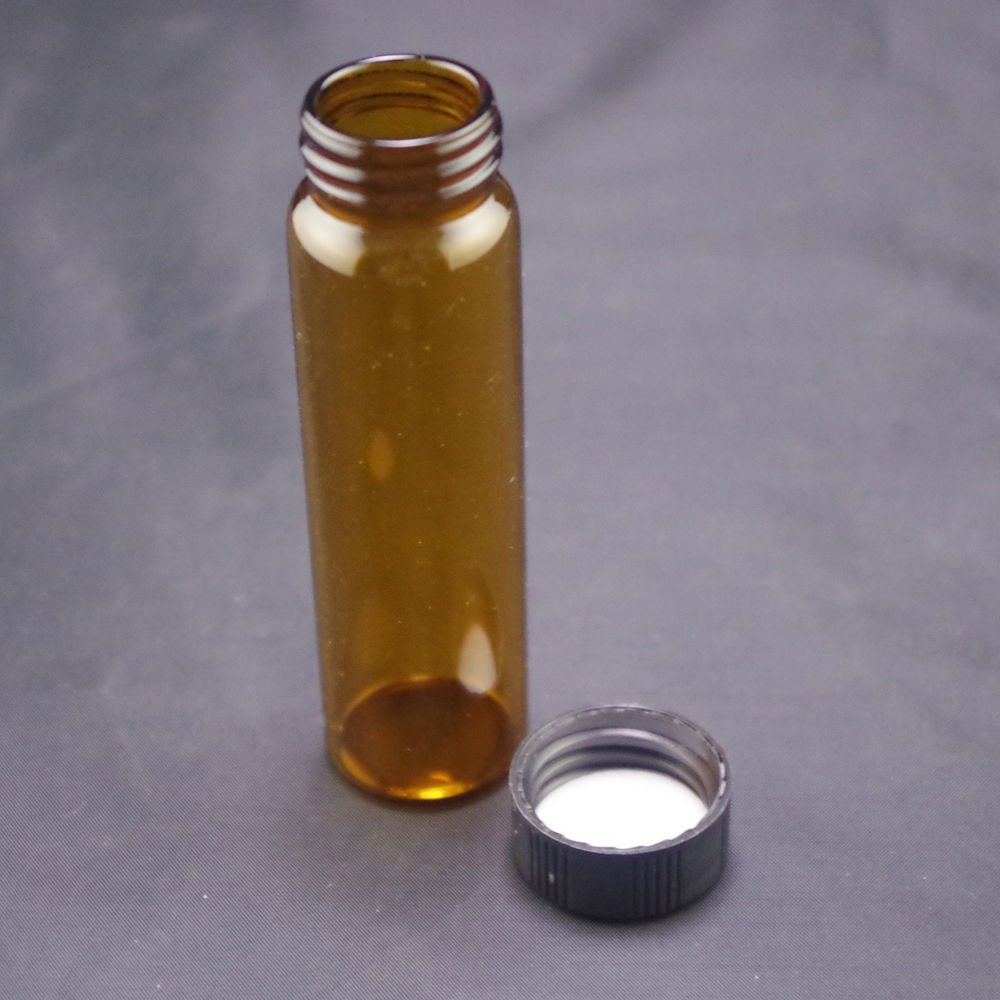 lot2 40ml Sample bottle brown glass screw top