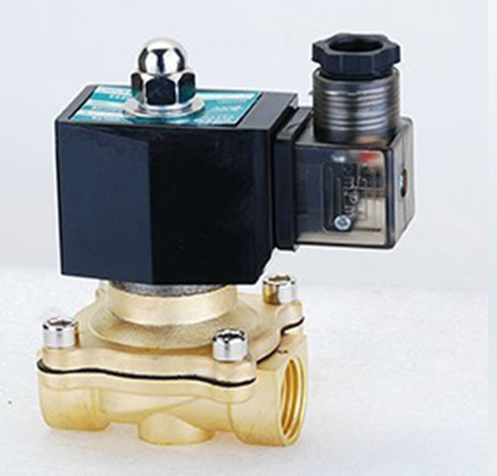 "Methane Gas Fuel Propane 2 Ways NC 110VAC Solenoid Valve 1/2"" BSPP Connection"