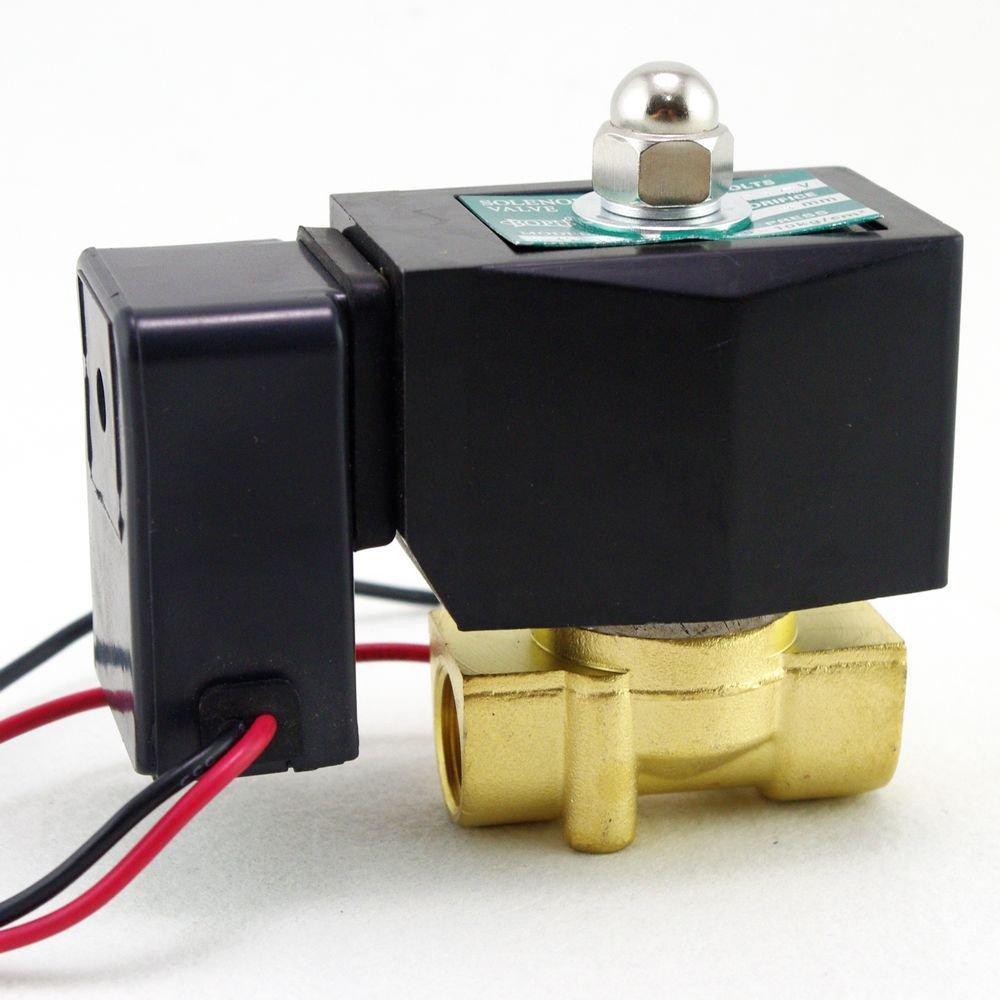 "Methane Gas Fuel Propane 2 Ways NC 220VAC Solenoid Valve 3/8"" BSPP Connection"