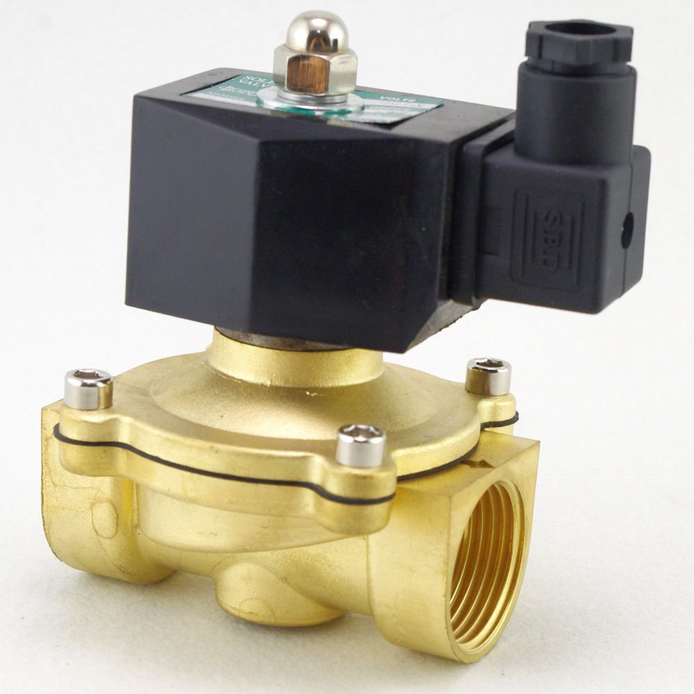 "Methane Gas Fuel Propane 2 Ways NC 12VDC Solenoid Valve 1"" BSPP Connection"