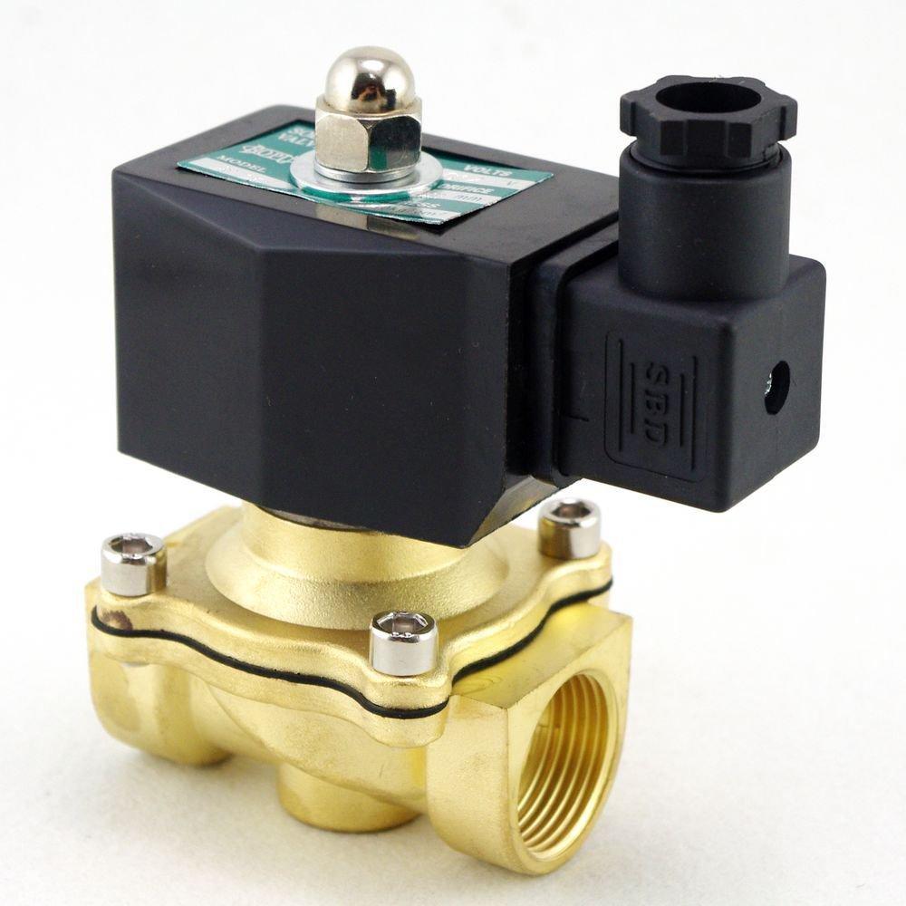 "Methane Gas Fuel Propane 2 Ways NC 12VDC Solenoid Valve 3/4"" BSPP Connection"