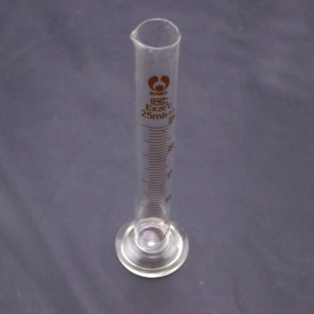 lot8 graduated cylinder measuring 25ml lab glass