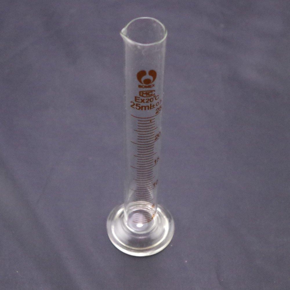 lot20 graduated cylinder measuring 25ml lab glass