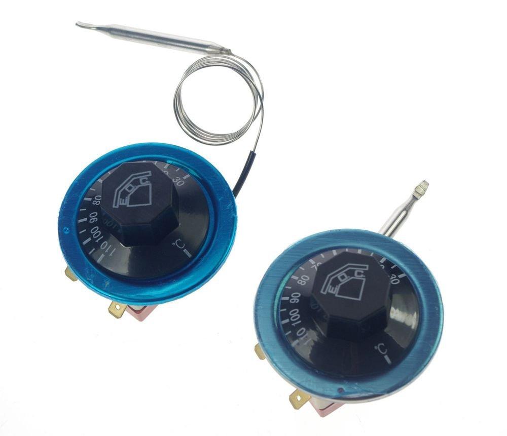 220V 16A Thermostat Knob Temperature Switch Controller Probe 50-300 Celsius