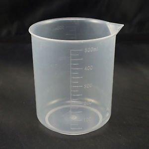 lot4 500ml measuring cup graduated plastic beaker