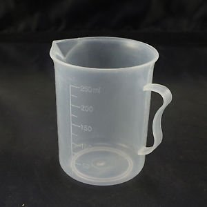 lot10 250ml plastic measuring cup graduated with handle