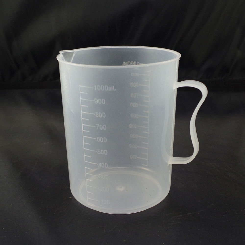 1000ml plastic measuring cup graduated with handle