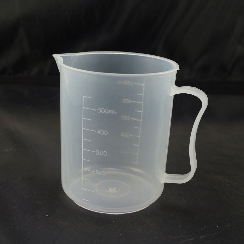 lot2 500ml plastic measuring cup graduated with handle