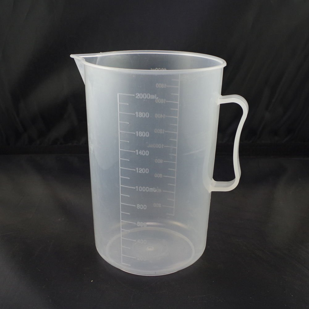 lot2 2000ml plastic measuring cup graduated with handle