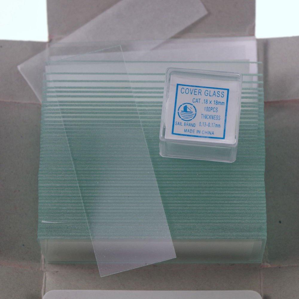 200pcs 18x18 microscope slides 50pcs clear & cover glass slips