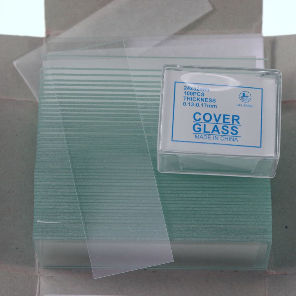 200pcs 24x32 microscope slides 50pcs clear & cover glass slips