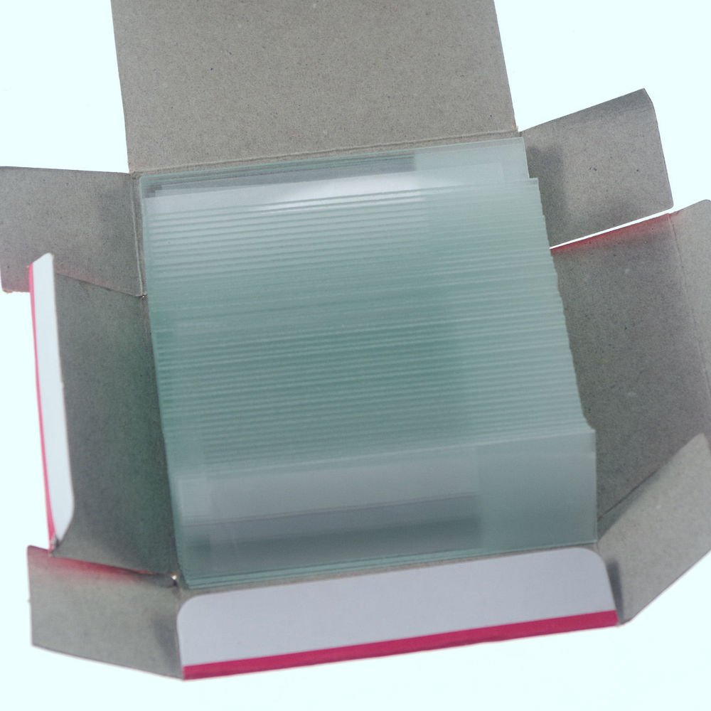 100pcs microscope micro slides glass 25.4mmx76.2mm frosted