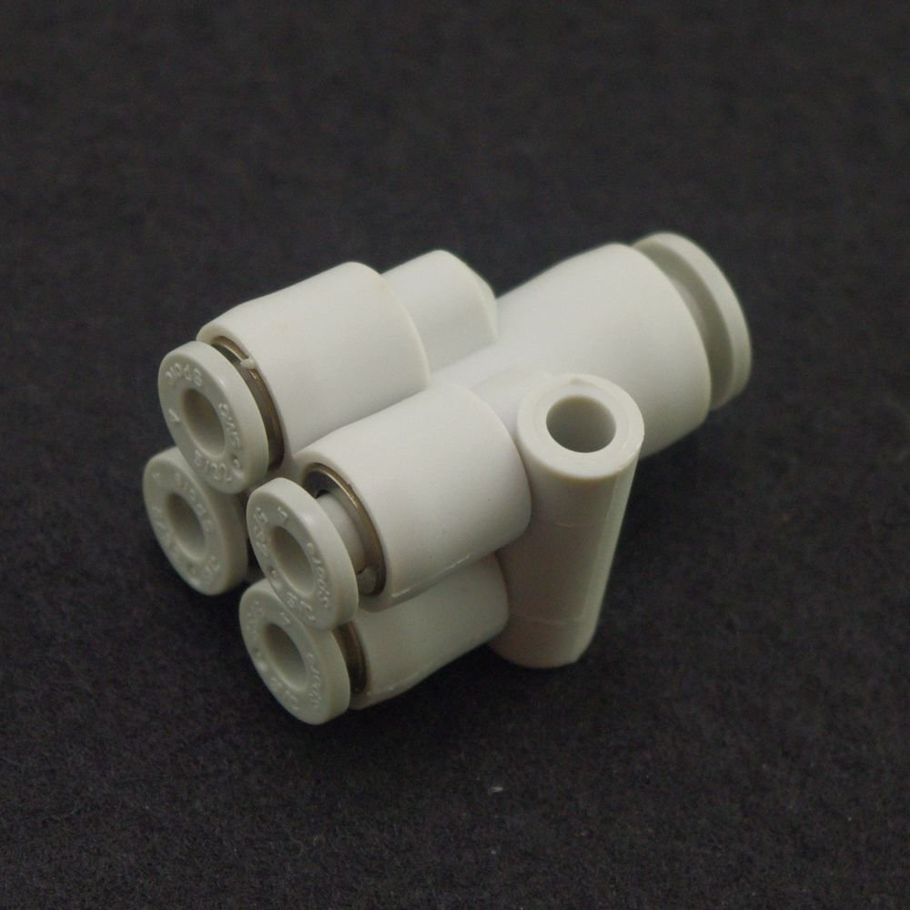 (5) Tube Push In Reducer Connector Double Branch Y Union Replace SMC KQ2UD06-08