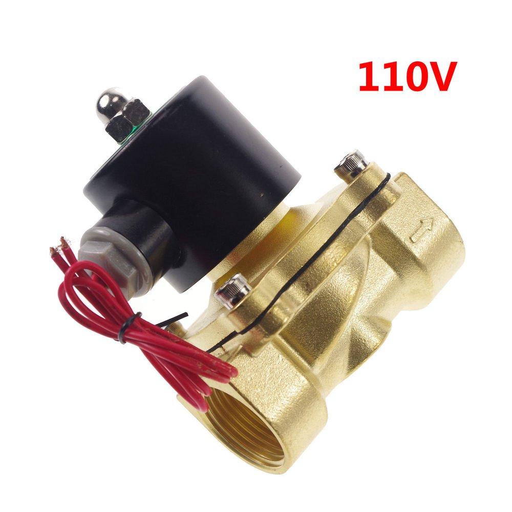 "110VAC Water Gas Air Fuel NC Solenoid Valve 1"" BSPP"