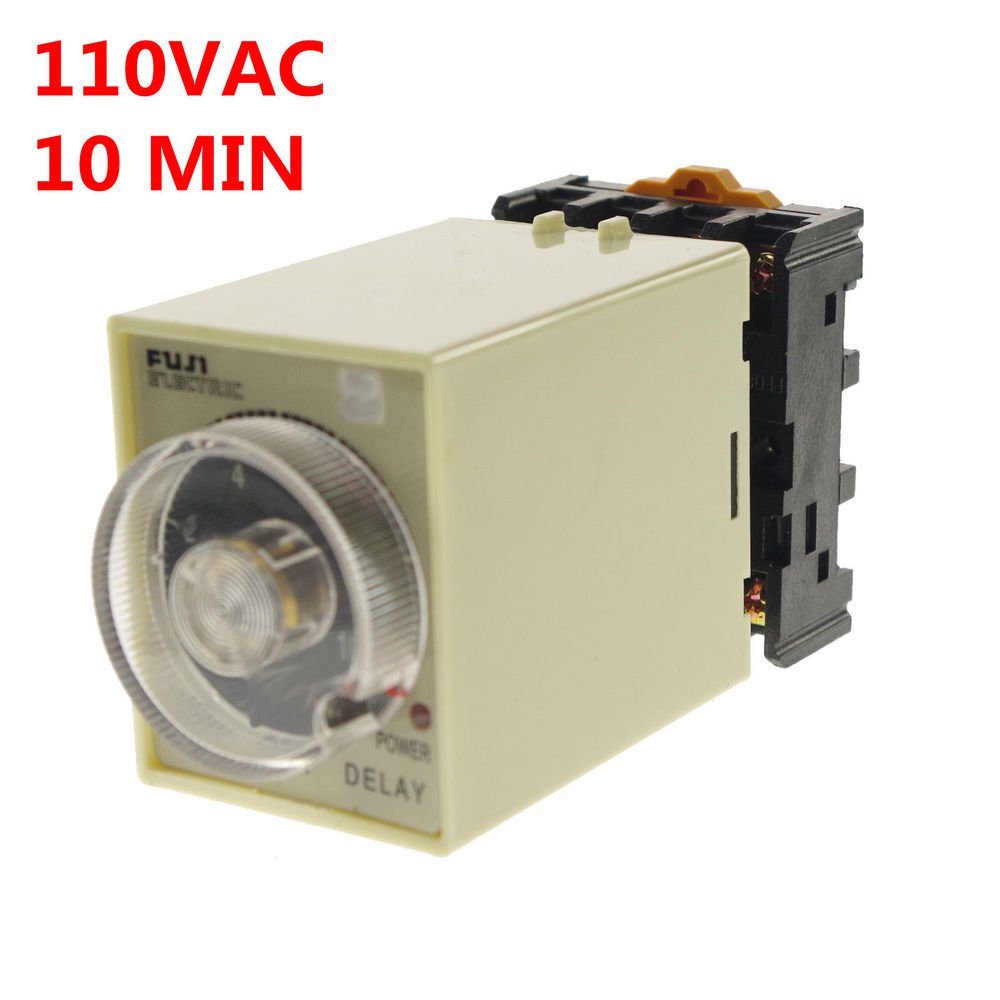1PCS 110V Power off delay timer time relay 0-10min with PF083A Socket Base