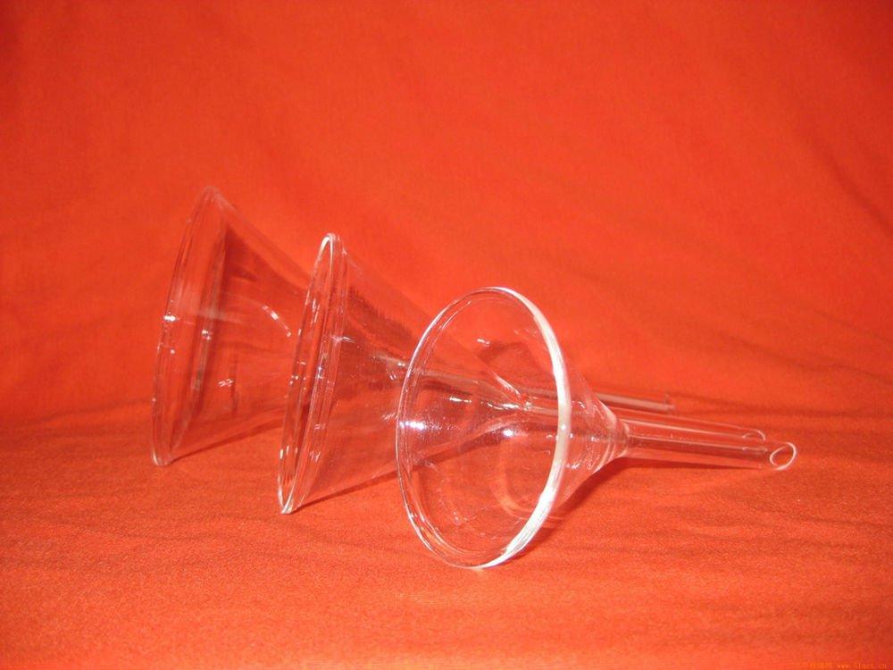 60mm funnel lab short stem thick glass