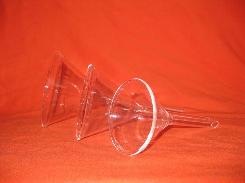 lot20 50mm funnel lab short stem thick glass