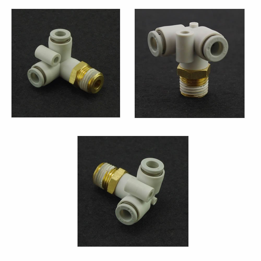 (5) Push In One Touch Male Delta Union Connector 4mm-M5 Replace SMC KQ2D04-M5