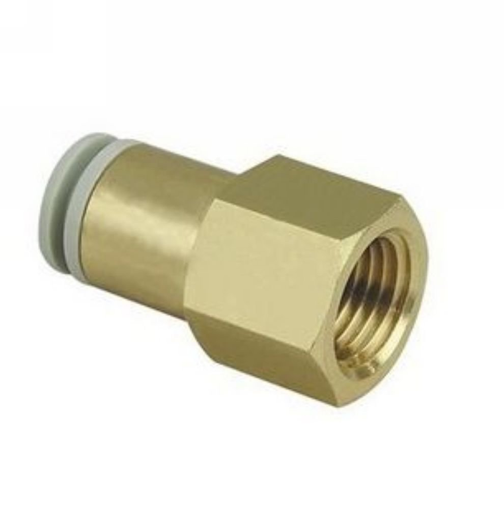 """�5� One Touch Female Straight Connector 4mm-1/8""""BPSS Replace SMC KQ2F04-01"""
