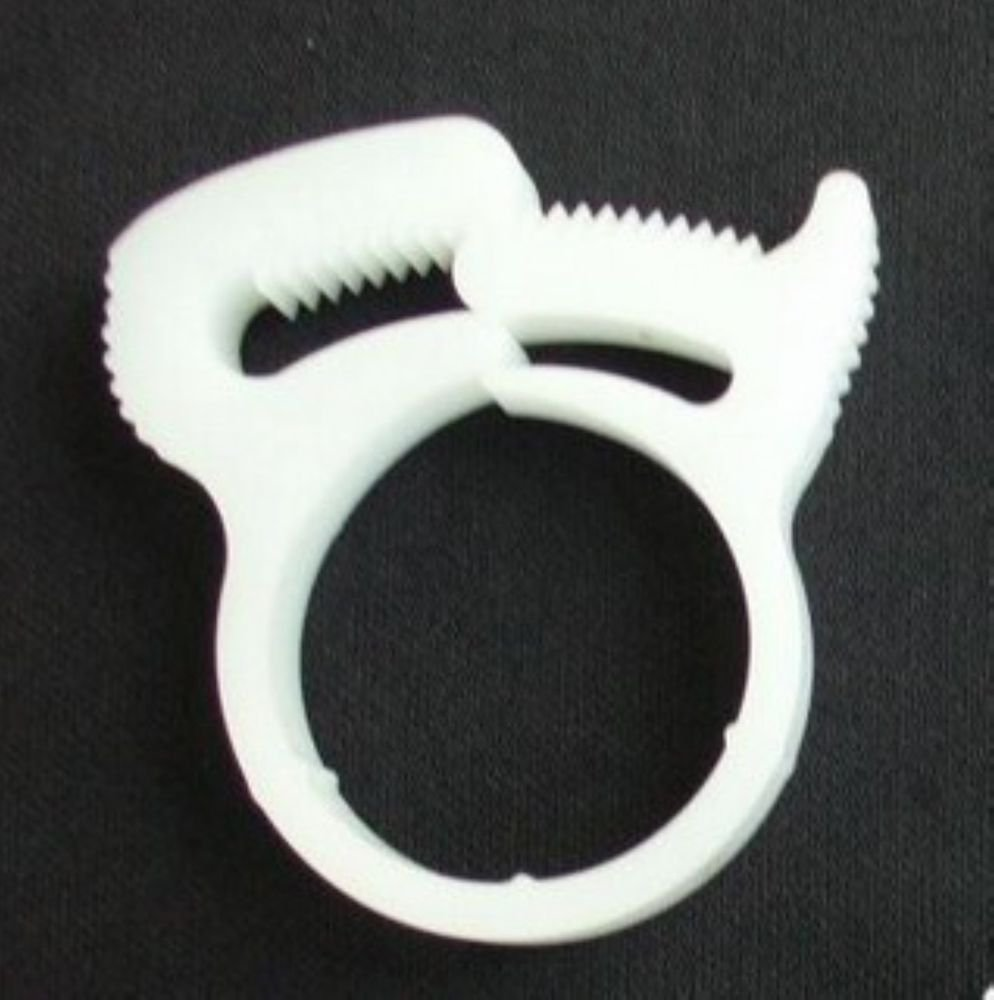 (10) Nylon Platic White Fuel Hose Cable Wire Tube Clamps Clips For 8.4-9.3mm OD