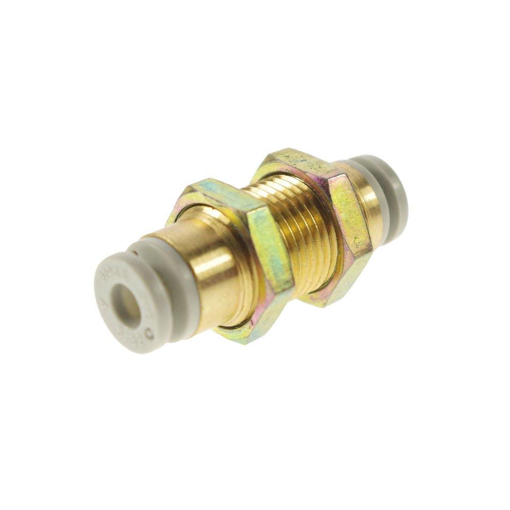 �5� One Touch Connectors Brass Bulkhead Union 4mm Tube Replace SMC KQ2E04-00
