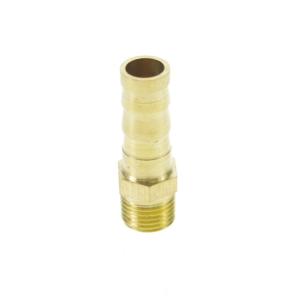"5pcs 1/8"" BSPP Connection Male-8mm barbed Hose Brass Adapter Coupler Connector"