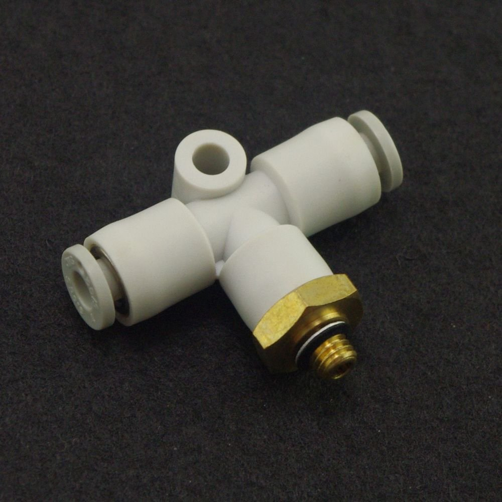 (5) One Touch Push In Branch Tee Connectors Center Male Replace SMC KQ2T04-01S