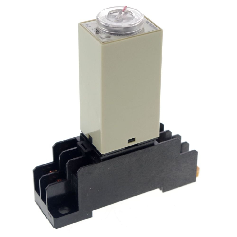110VAC 0.1-1S H3Y-2 Power On Time Delay Relay Solid-State Timer DPDT Socket Base