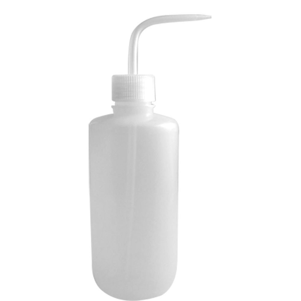 ot2 500ml Squeeze Bottle Tattoo Wash White Bent Tip lGreen Soap Alcohol Clear