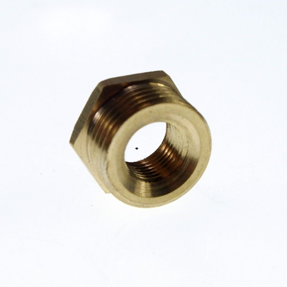 """5PCS Brass 3/8"""" Male x 1/4"""" BSPP Female Adapter Reducer"""